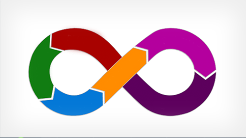Illustration of colorful infinity loop