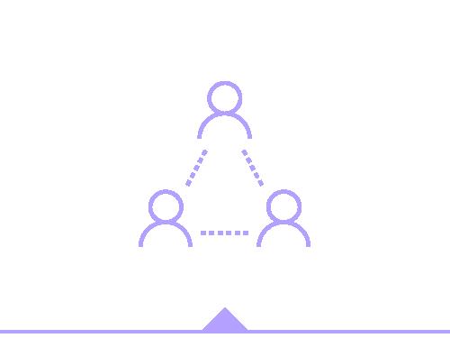 Ilustración de personas estableciendo relaciones y asociaciones