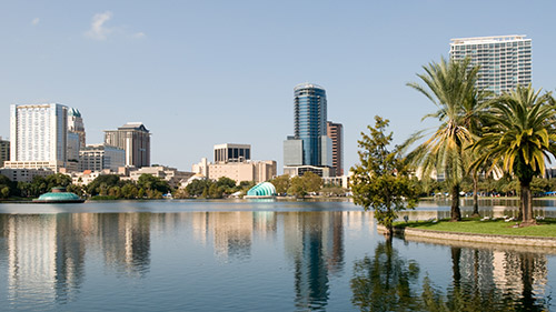 Landscape view of Orlando