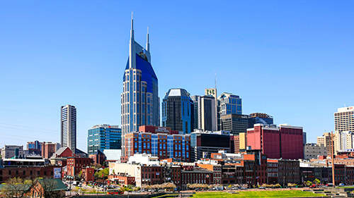 Landscape view of Nashville