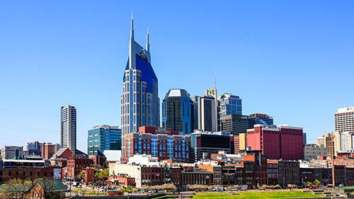 Landscape view of Nashville