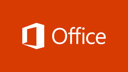 : illustration of orange box with Microsoft Office text
