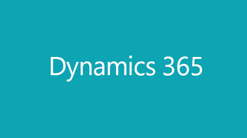 Illustration of turquoise box with Dynamics 365 text
