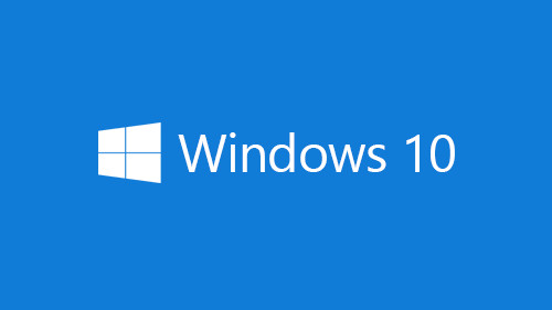 Illustration of blue box with Windows 10 text