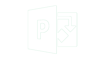 Microsoft Project logo white