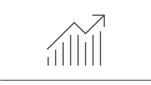 Illustration of an upward trending line graph