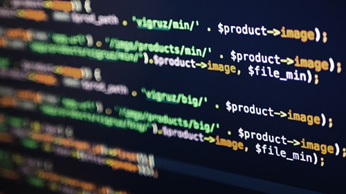 Picture of coding on screen