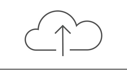 Illustration of an upload cloud