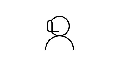 Icon of a customer support representative