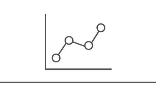 Illustration of upward trending line graph