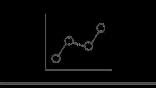 Illustration of upward trending line graph