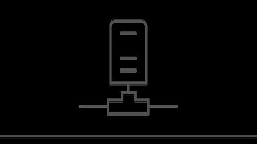 Illustration of a storage plug in