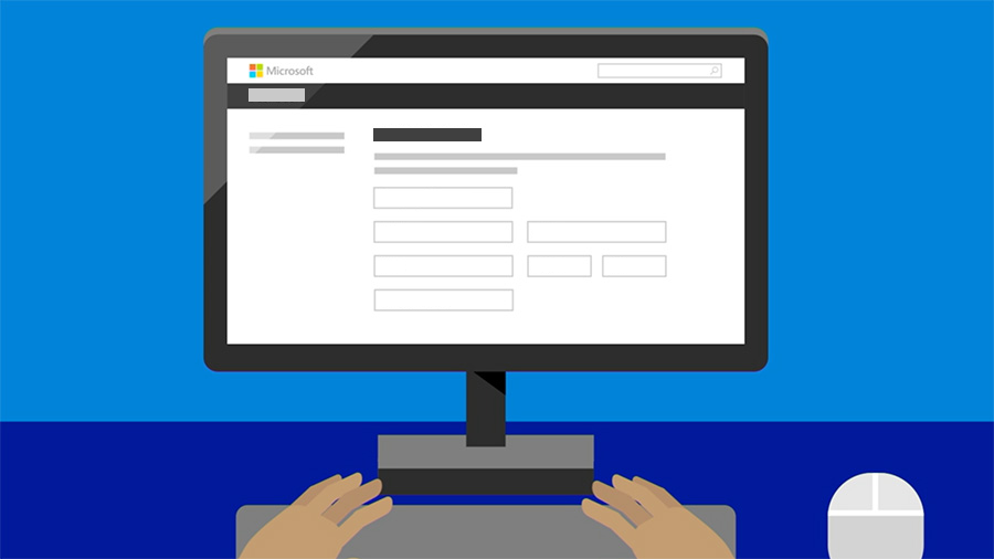 Illustration of computer on sign up screen for Partner Dashboard