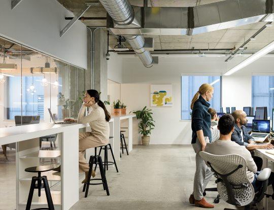 An office setting