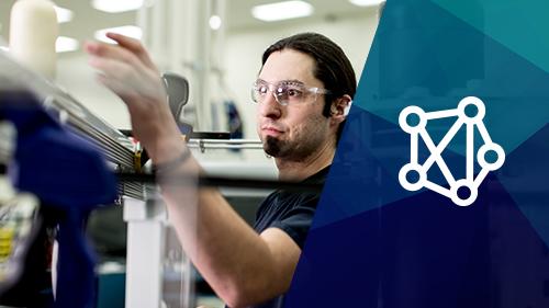 man working on machines