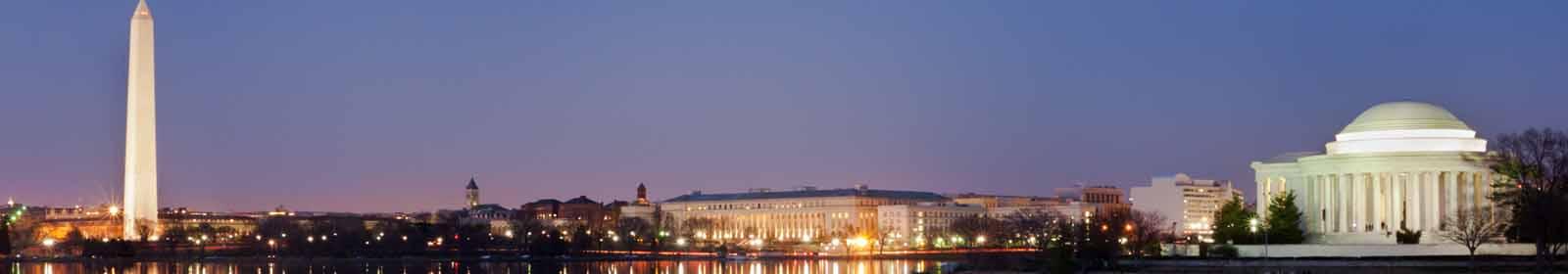 National Mall skyline in Washington, D.C.